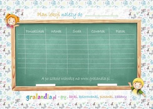 Darmowy Plan Lekcji Shopping Linka